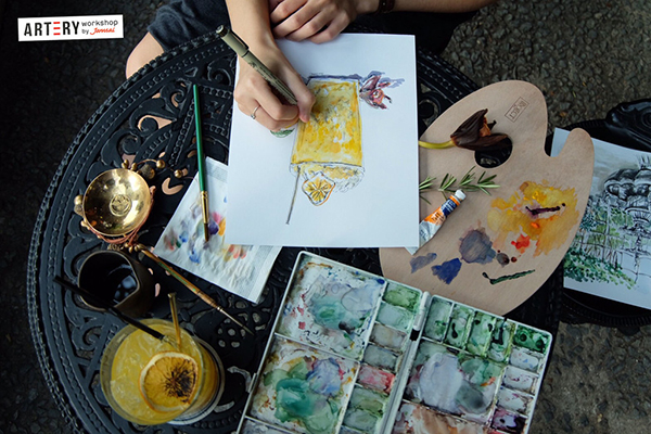 "Workshop ""Water Color Workshop วาดสีน้ำสบายๆ by PearadaStyle"""