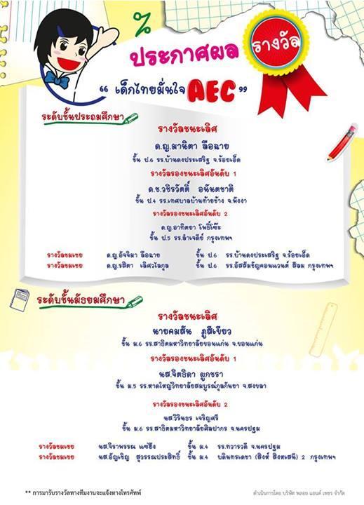 ทำไมเด็กไทยต้องรู้และเข้าใจ AEC