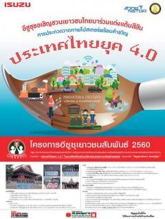 """ประกวดวาดภาพโปสเตอร์พร้อมคำขวัญ หัวข้อ """"ประเทศไทยยุค 4.0"""""""
