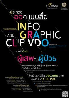 """ประกวดออกแบบ Infographic และ Clip VDO ในโครงการ """"ทำดีเพื่อพ่อ สานต่อแก้ปัญหายาเสพติด"""""""
