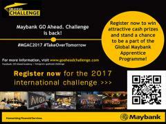 แข่งขัน International business case โครงการ Maybank Go Ahead Challenge 2017