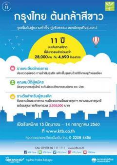 """ประกวดโครงการ """"กรุงไทย ต้นกล้าสีขาว"""" ปี 11"""