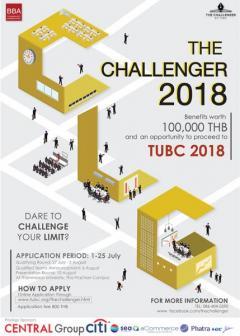 ประกวดแผนธุรกิจ The Challenger 2018 By TUBC