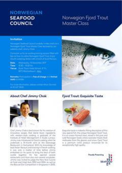 อบรมการทำอาหาร ในโครงการ Norwegian Fjord Trout Master Class